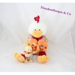Peluche poule DOUDOU ET COMPAGNIE Poupilou avec son poussin 35 cm