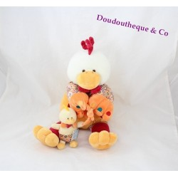 Stuffed Chicken Don and company Poupilou with its 35 cm chick