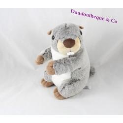 Plush Marmot CREATIONS DANI mottled gray brown white 20 cm