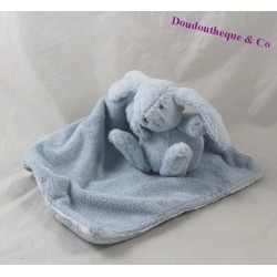 Doudou rabbit sandwich and chocolate blue white 11 cm handkerchief