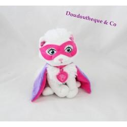 Peluche chat BARBIE super princesse masque cape 20 cm