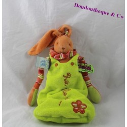 Doudou rabbit tattoo BLANKIE and green rabbit gigoteuse company orange