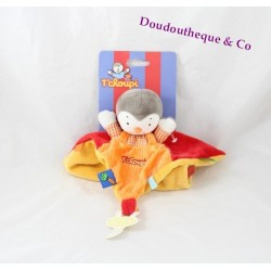 Flat Doudou you Charlie NICOTOY red orange tie pacifier labels
