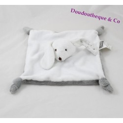 Doudou rabbit flat homes of the world white gray 25 cm
