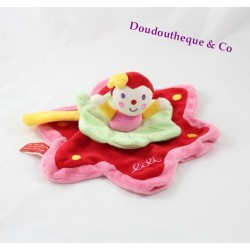 Doudou plat Lili KATHERINE ROUMANOFF DIM DAM DOUM BABY NAT' fleur