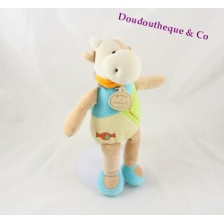 Cow Doudou DOUDOU and green embroidery company candy 26 cm