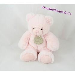 Peluche musicale ours DOUDOU ET COMPAGNIE Bonbon rose tendre 20 cm