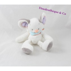 Mini plush mouse NATTOU Bubbles white rattle Bell 17 cm