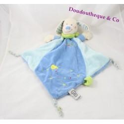 Dog flat Doudou words of children blue chick diamond Leclerc