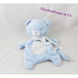 Bear flat Doudou TEX BABY blue white star 28 cm
