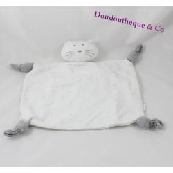 Doudou BASTIDE broadcast white flat cat Star 4 knots