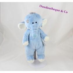 Peluche éléphant TATTY TEDDY bleu My blue nose friends 27 cm