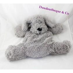 Peluche range pyjama chien ETAM bouillotte gris 3 en 1 35 cm