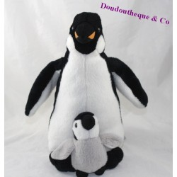 Plush Penguin MARINELAND Penguin and baby black grey 29 cm