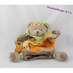 Doudou puppet bears DOUDOU and company Mario bear Indian 24 cm