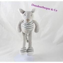 Doudou mouse BUROMAC BABY FOLLY Gray 25 cm