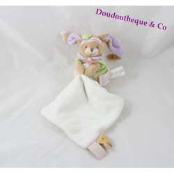 Doudou handkerchief Lila Bunny BLANKIE and company pink green purple 28 cm