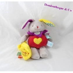 Blanket plush rabbit BABY NAT' doudou yellow handkerchief love the Zetik'T