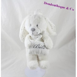Plush musical CHEEKBONE cushion white 26 cm baby rabbit