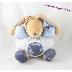 Budderball Doudou rabbit KALOO Blue Denim smiles and silly things 30 cm