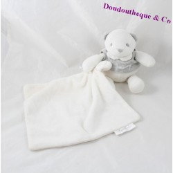 Doudou mouchoir ours MATHILDE M Mon petit Ange ... tee shirt gris 18 cm