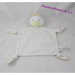 Doudou flat duck white chick PRIMARK EARLY DAYS star 27 cm