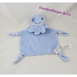 Doudou flat Octopus PRIMARK EARLY DAYS blue striped 30 cm