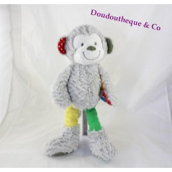 Plush grey star SIMBA TOYS monkey Youmi label Nicotoy 35 cm