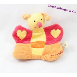 Doudou puppet bee a dream baby orange yellow red 20 cm