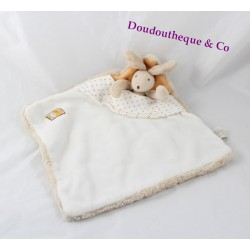 Doudou flat MOULIN ROTY Basile and Lola Bunny bed beige 25 cm