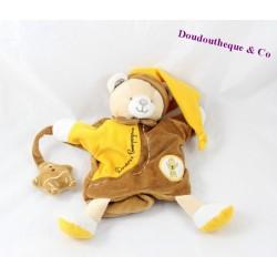 Doudou marionnette ours DOUDOU ET COMPAGNIE pain d'épice marron 27 cm