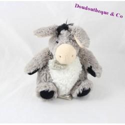 Doudou âne HISTOIRE D'OURS gris blanc HO2192 19 cm