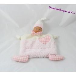 Doudou flat COROLLA Corolla Babi doll pink 24 cm