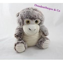 Heather MAX & SAX brown beige monkey plush big eyes 24 cm