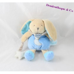Teddy bear BABY NAT' Luminescent gray Blue Star 20 cm