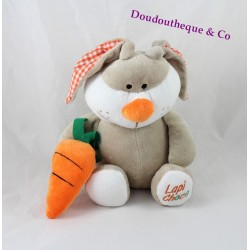 Plush rabbit FIZZY Lapi Choco carrot orange beige 30 cm
