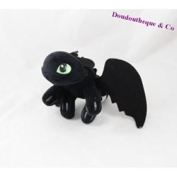 Peluche Krokmou DREAMWORKS HEROES Dragons noir 23 cm