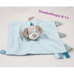 Doudou flat dog Cyril NATTOU Gaston and Cyril gray turquoise blue train