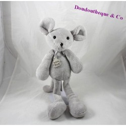 Plush mouse story of bear Sweety grey 40 cm