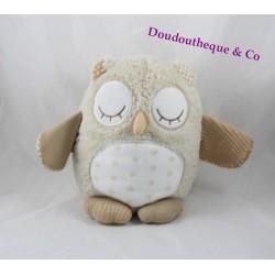 Doudou Nighty Night owl chouette CLOUD B hibou sons apaisants bébé beige