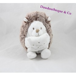 Plush musical Hedgehog TEX BABY brown white 20 cm