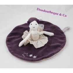 Doudou flat doll MOULIN ROTY love, and Celeste dancer gray violet