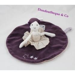 Doudou plat poupée MOULIN ROTY Aimé et Céleste danseuse gris violet