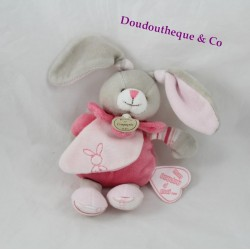 Mini plush Célestine DOUDOU rabbit and company rose my blankie to me 18 cm