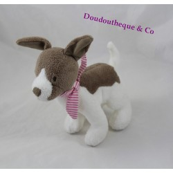 Dog plush JACADI walk to Liberty 18 cm white Brown Park