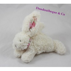 Plush rabbit JACADI walk to Liberty 18 cm White Park