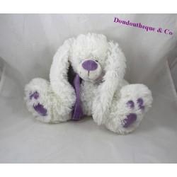 Plush rabbit ENESCO white violet scarf 23 cm