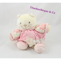 Cat towel KALOO Lilirose star pink flowers 17 cm