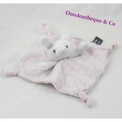 Doudou rabbit flat ORCHESTRA Pink White Star fluorescent Prémaman