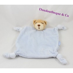 Bear flat Doudou KALOO blue back affected child pen